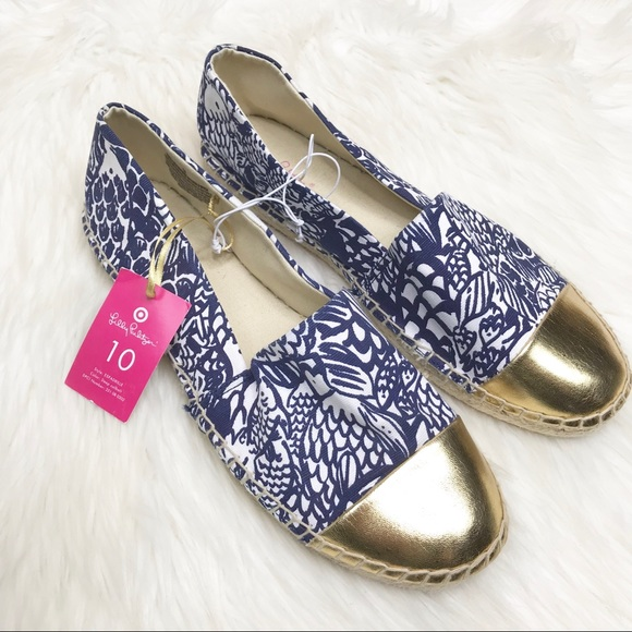 bd503a1ebe5b8f Lilly Pulitzer for Target Shoes | Lilly Pulitzer Navy Gold Upstream ...
